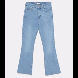 ZARA TRF Mid-Rise Flare Jeans, size 2, NEW